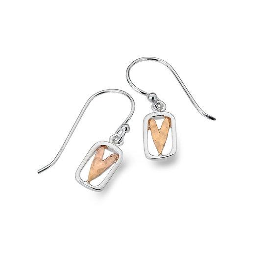 Dainty Heart Earrings, Studs or Drops