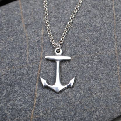 Handmade Anchor Pendant, Pewter