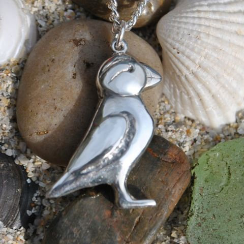 Puffin Pendant, pewter