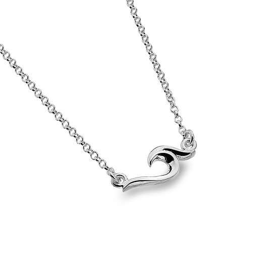Curved Organic Wave Necklace