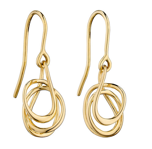 Yellow Gold Wire Wrap Earrings