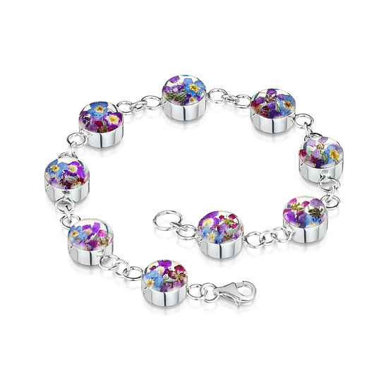 Purple Haze Real Flower Bracelet