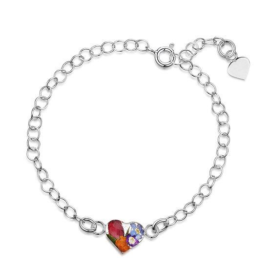 Real Flower Silver Bracelet