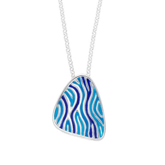St Justin Glas Mor Trig Low Tide enamelled pendant