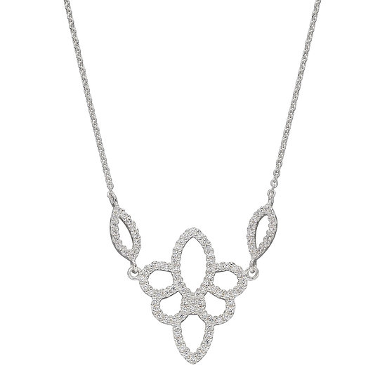 Lace effect Silver Necklace
