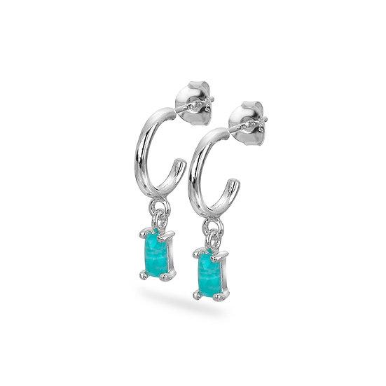 Boho Amazonite Hoop Earrings