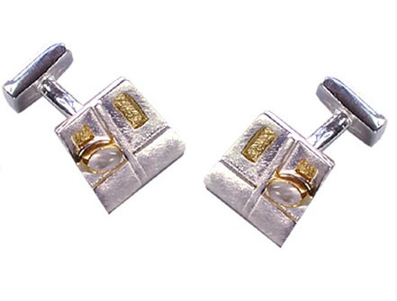 Charles Rennie Mackintosh Cufflinks with Moonstone