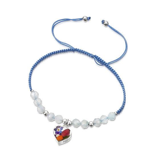 Real Flower Gemstone bracelet, Mixed Flowers