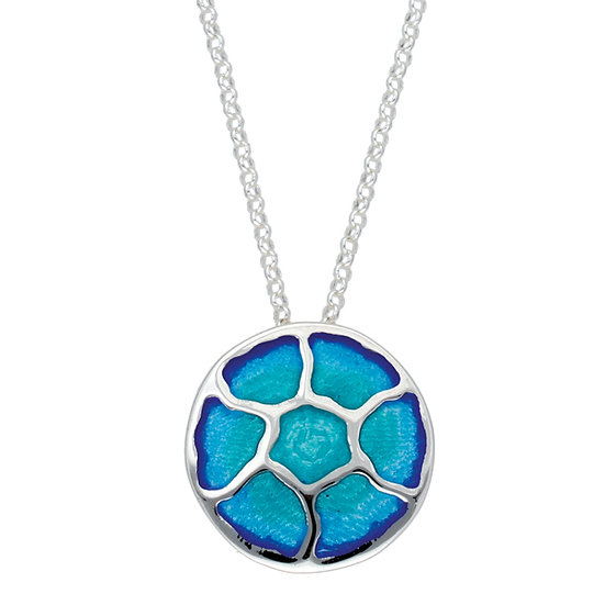 St Justin Glas Mor Morgowles Jellyfish enamelled pendant