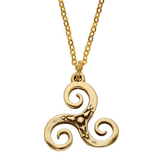 Bretagne Triscele Pendant, Bronze