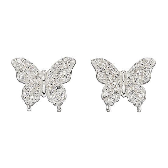 Butterfly Earrings with zirconia