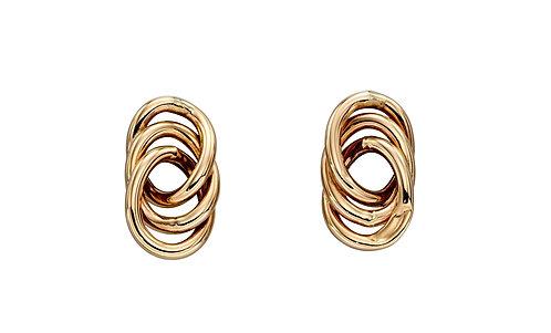 Interlinked Circle Stud Earrings
