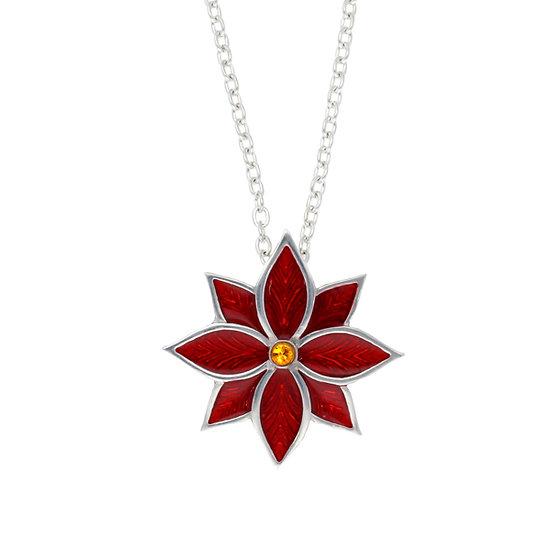 Poinsettia pendant
