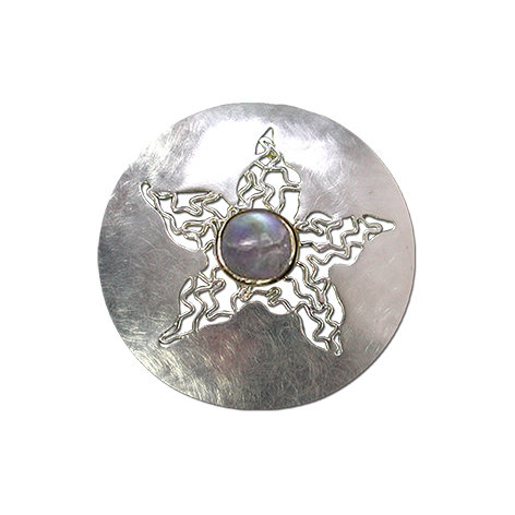 Sea Stars Round Pendant / Brooch