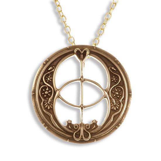 Glastonbury Chalice Well pendant, Bronze