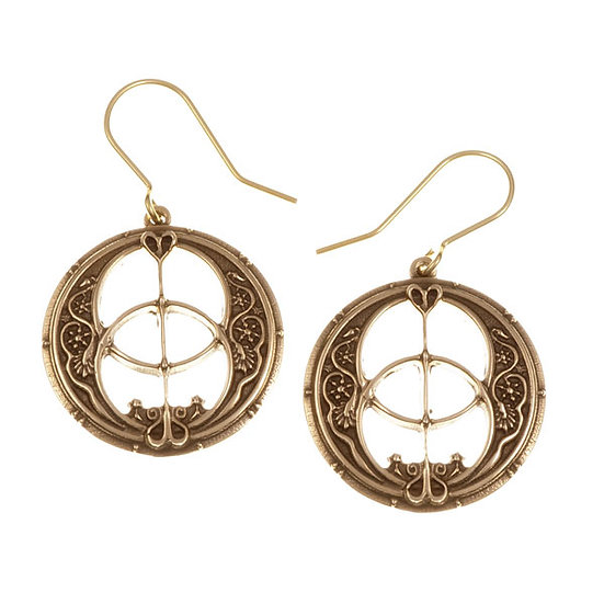 Glastonbury Chalice Well drop earrings