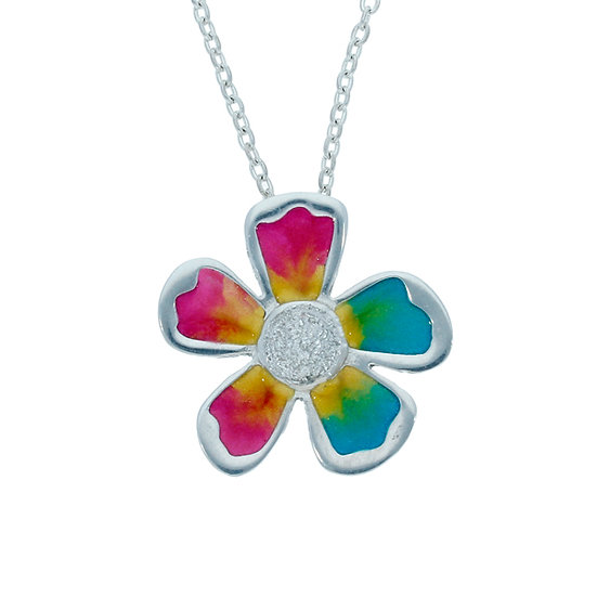 Exotic flower pendant, choice of colours