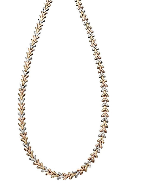 Triple Tone Triangle Necklace