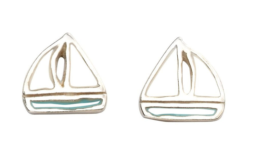 Boat stud earrings