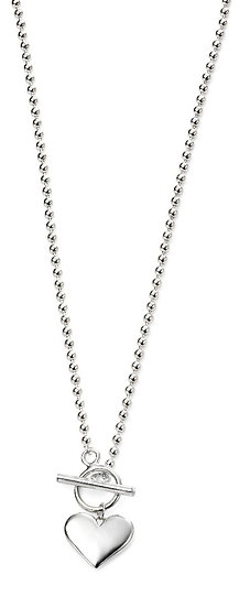 Heart ball chain necklace