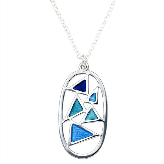 St Justin Glas Mor Flotilla enamelled pendant