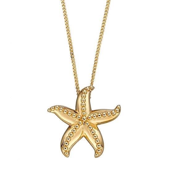 Starfish Pendant, Silver or Gold plated Silver