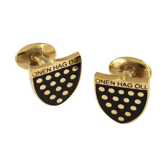 One & All cufflinks, Cornish Bronze or Cornish Tin