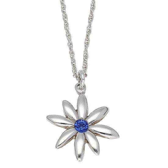 Silver winter daisy pendant