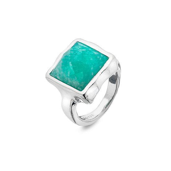 Square Amazonite Ring