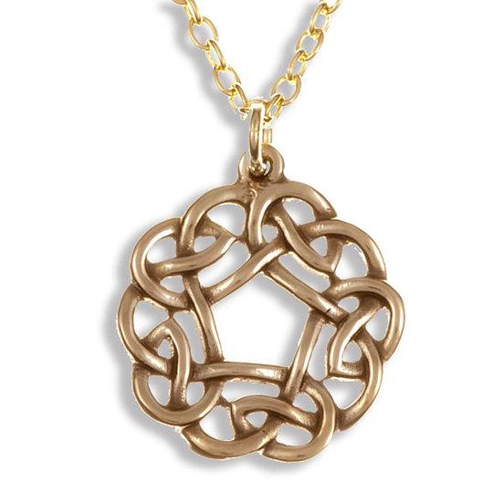 Pentagon knot pendant - Bronze