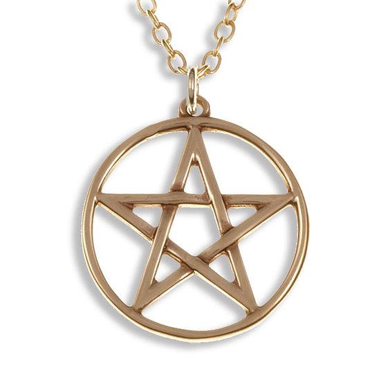 Pentagram Circle Pendant