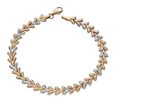 Triple Tone Triangle Bracelet