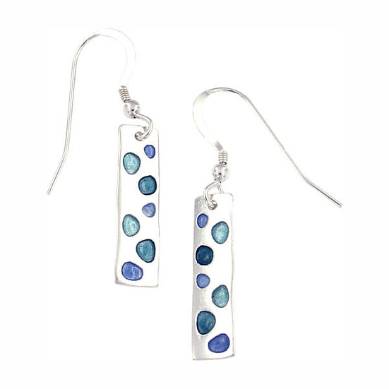 St Justin Glas Mor Cribbar enamelled drop earrings