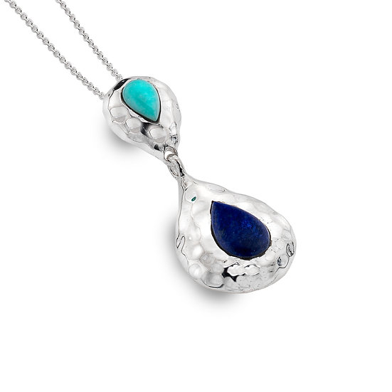 Aqua Pendant, Lapis Lazuli and Turquoise