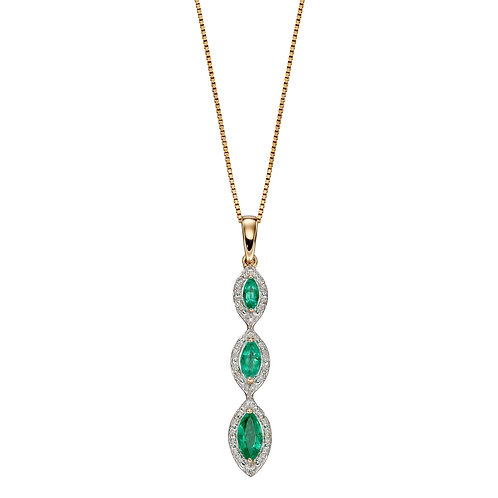 Marquise Emerald Pendant