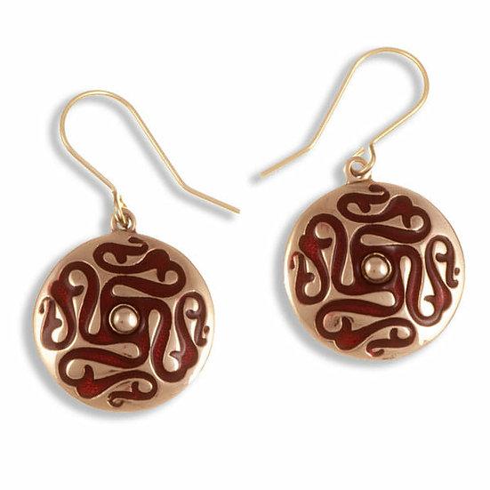 Whirligig drop earrings