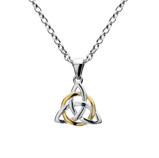 Celtic Triscele & Gold Circle Pendant