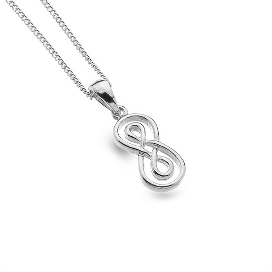 Infinity Knot Silver Pendant