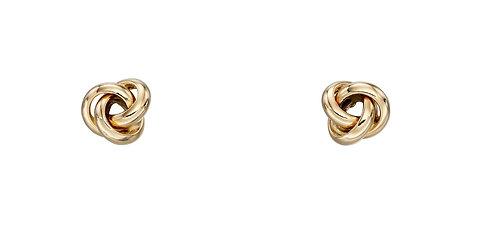 Yellow Gold Twist Knot stud Earrings