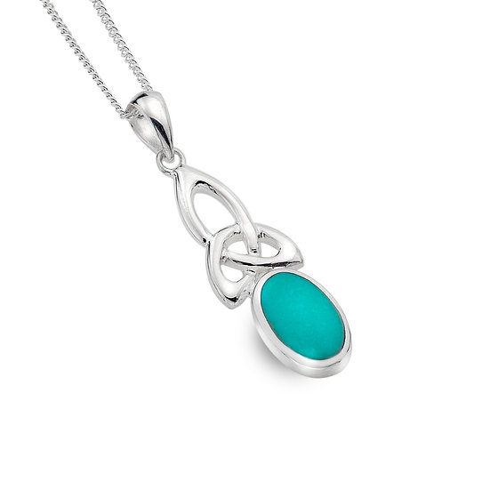 Trinity Knot Necklace with Gemstone
