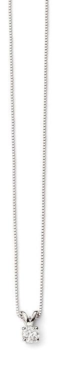 White Gold Diamond Solitaire Necklace