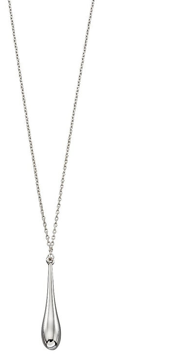 White Gold Long 51cm Necklace