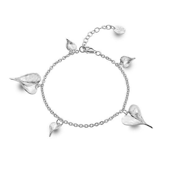Leaf Heart Charm Bracelet