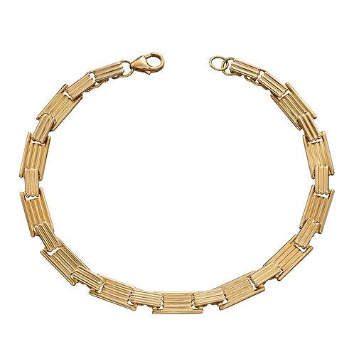 Column Inspired Long Bar Bracelet