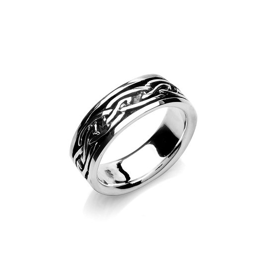 Celtic Pointed Knots Ring (Large/Mens)