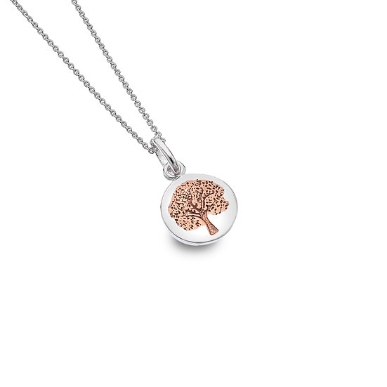 Tree Pendant, Rose Gold plated
