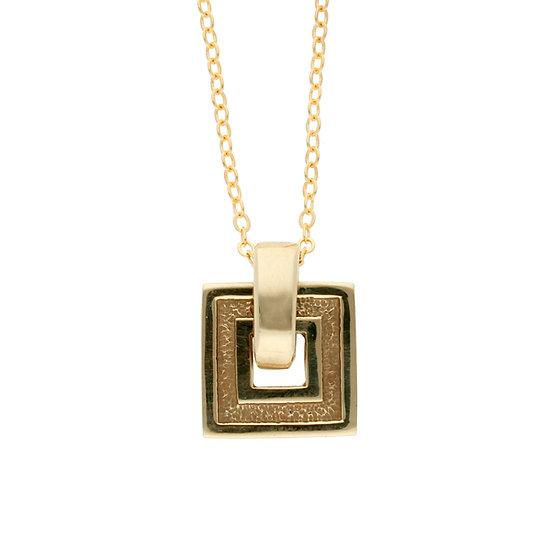 Bronze square pendant
