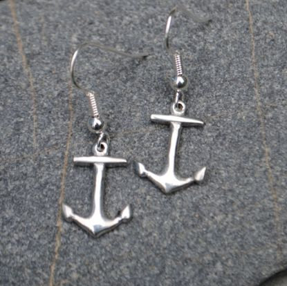 Handmade Anchor Earrings, Pewter