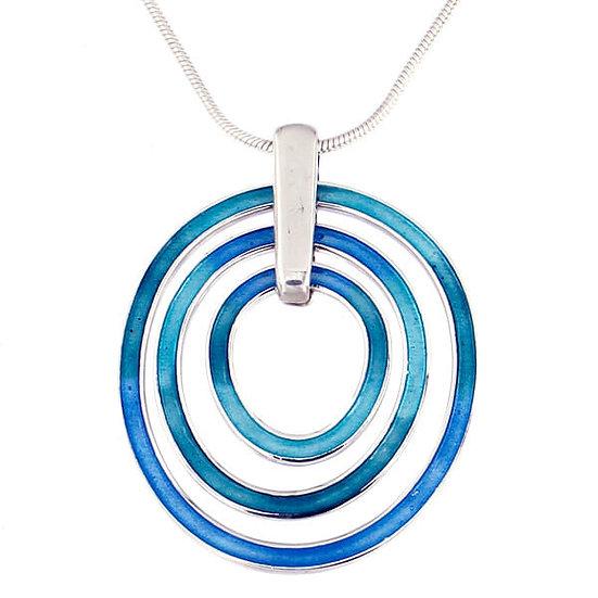 St Justin Glas Mor Ripples enamelled pendant