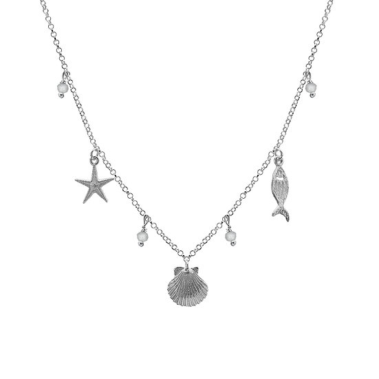 Beachcomber Necklace with Moonstone